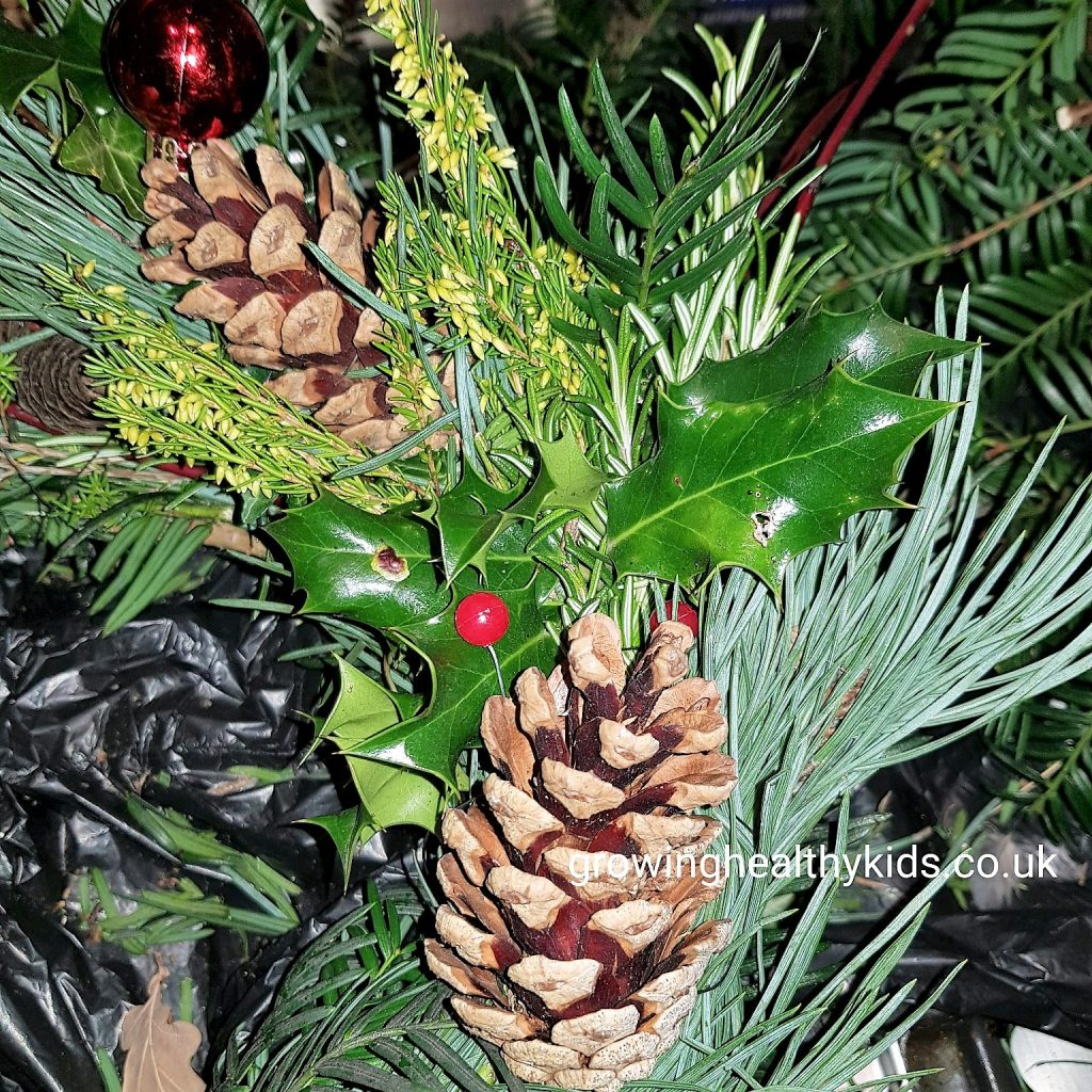 step by step to making a christmas wreath