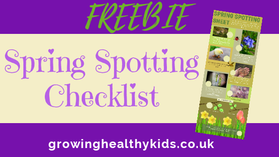 spring spotter checklist for kids