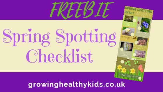 spring spotter checklist for kids