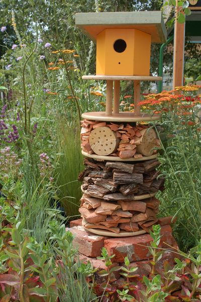 build a bughotel to help the wildlife in your garden