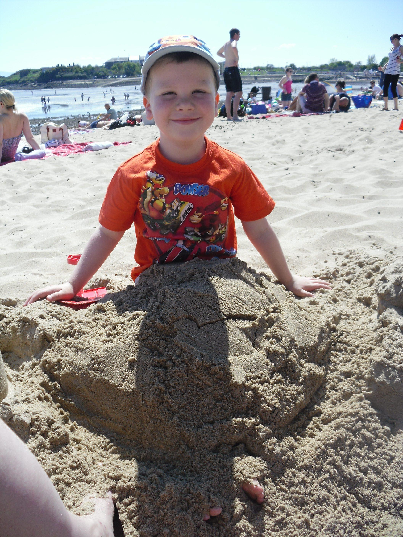 Kids on the beach July