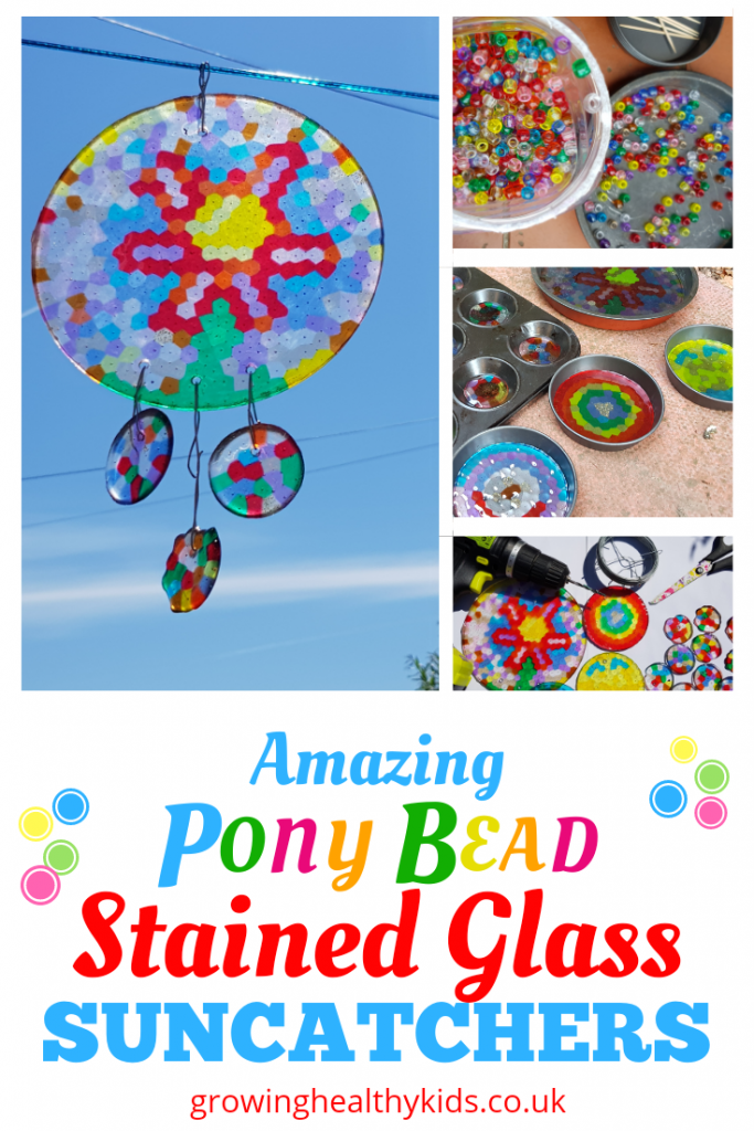 Pony bead suncatchers