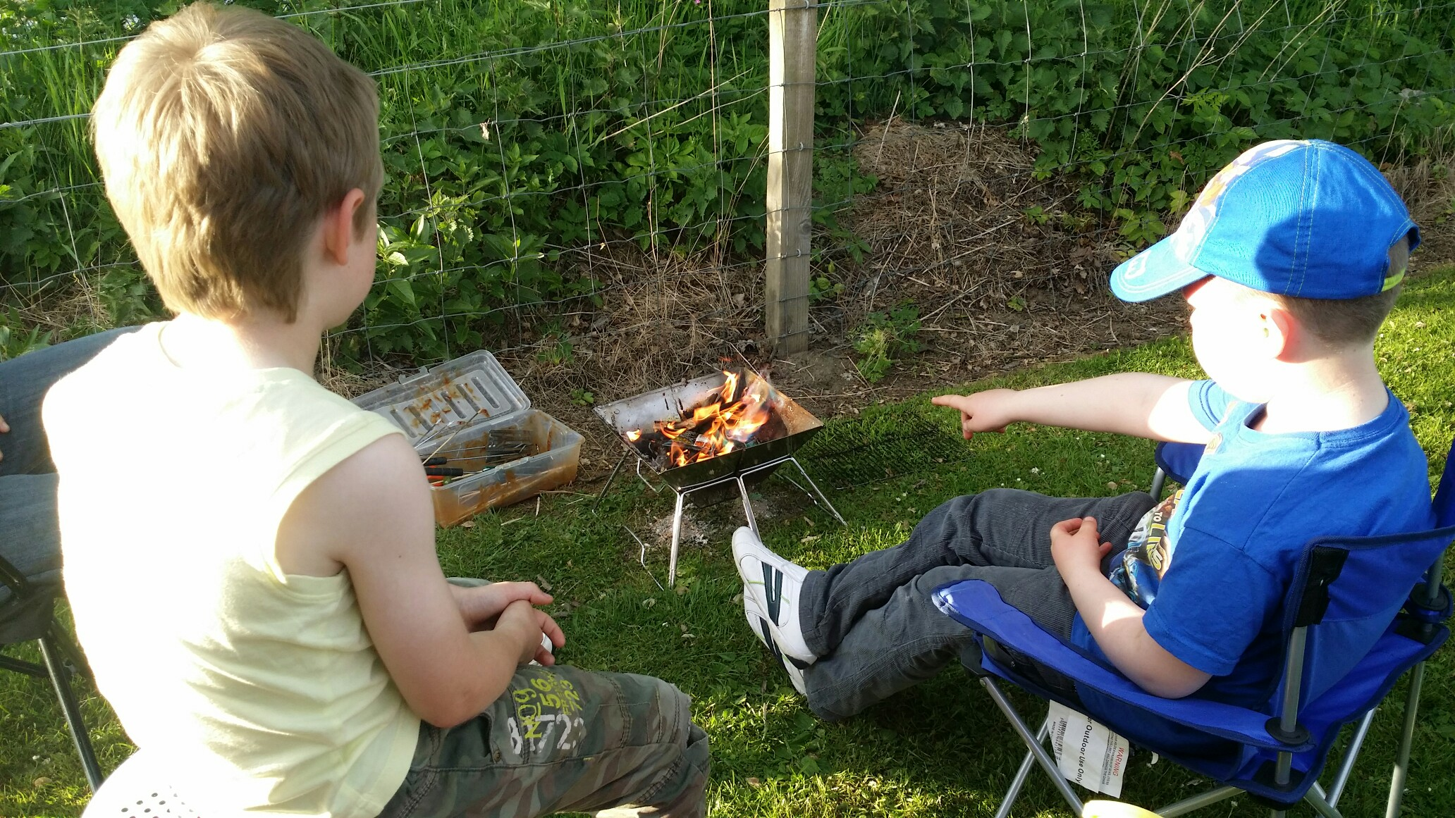 camping fun with the kids