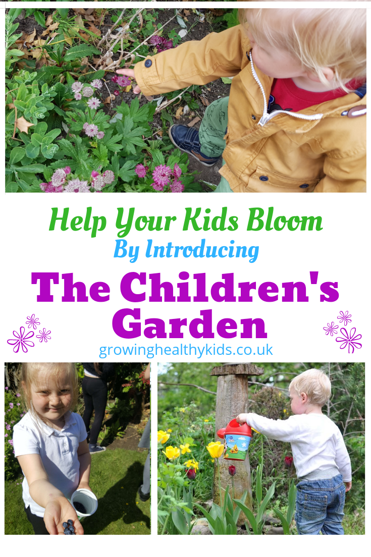 The children's garden. Easy, growing vegetables for beginners and the whole family in a kids garden. Fun activities everywhere