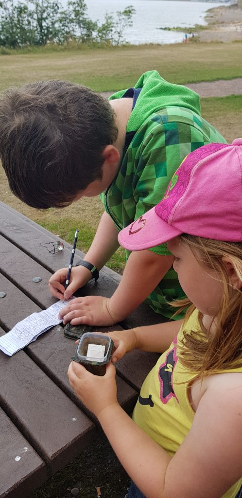 Outdoor kids love geocaching