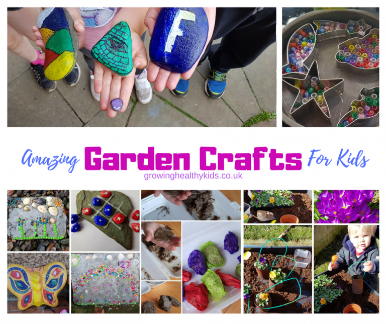 12 garden crafts for kids to make outdoors in the fall or spring. So easy that even preschool children will be able to have fun in the back yard making these DIY crafts. The perfect activities for celebrating Earth Day, Easter or Spring.""