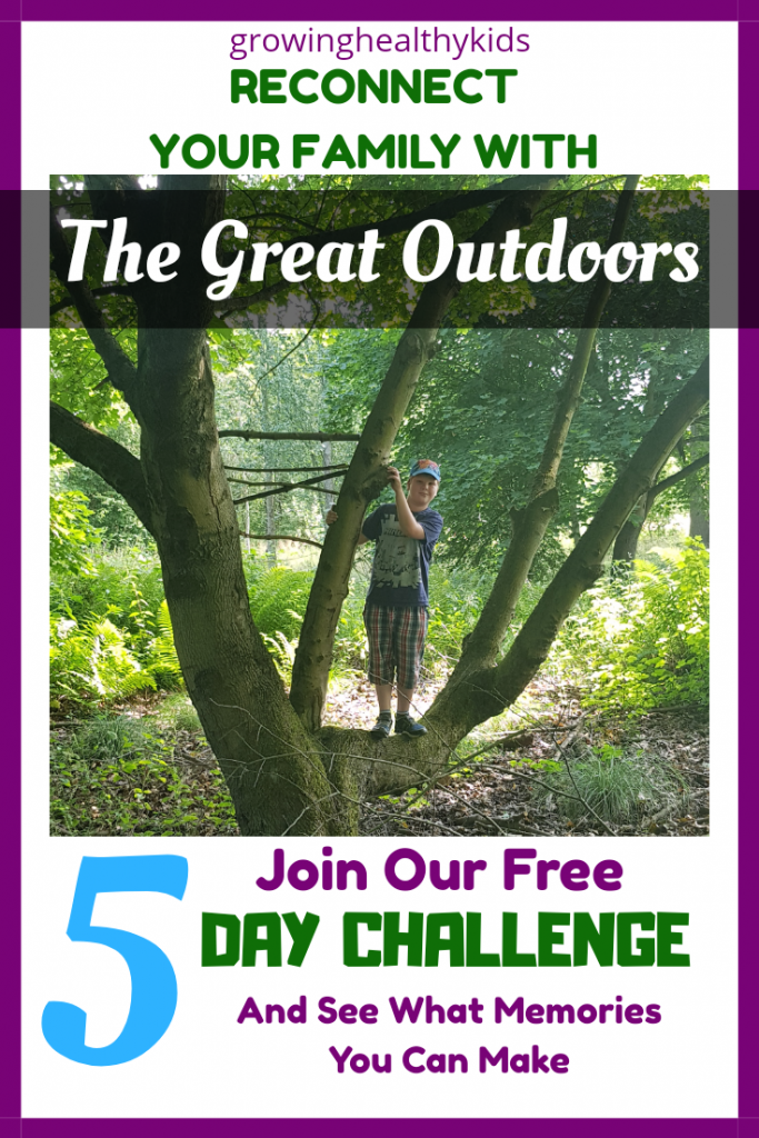Get your family outdoors more with this 5 day email challenge. Engage your kids with this fun challenge.