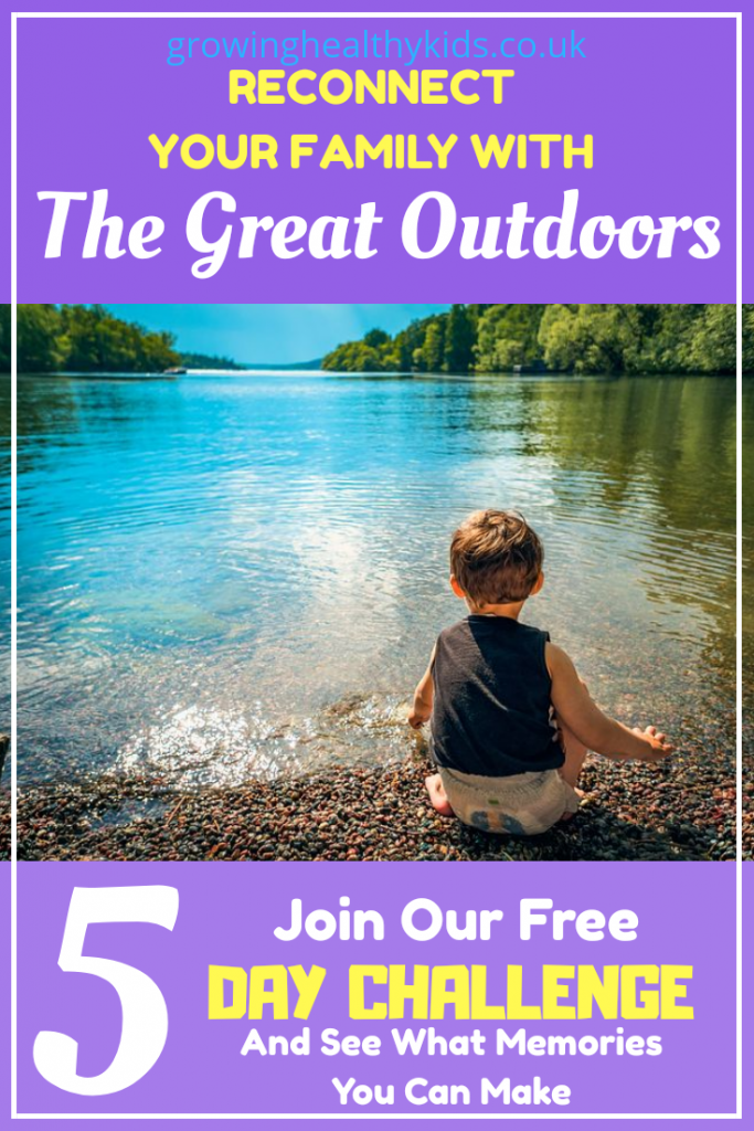 Try this 5 day email course to help you get the kids enjoying family time outdoors
