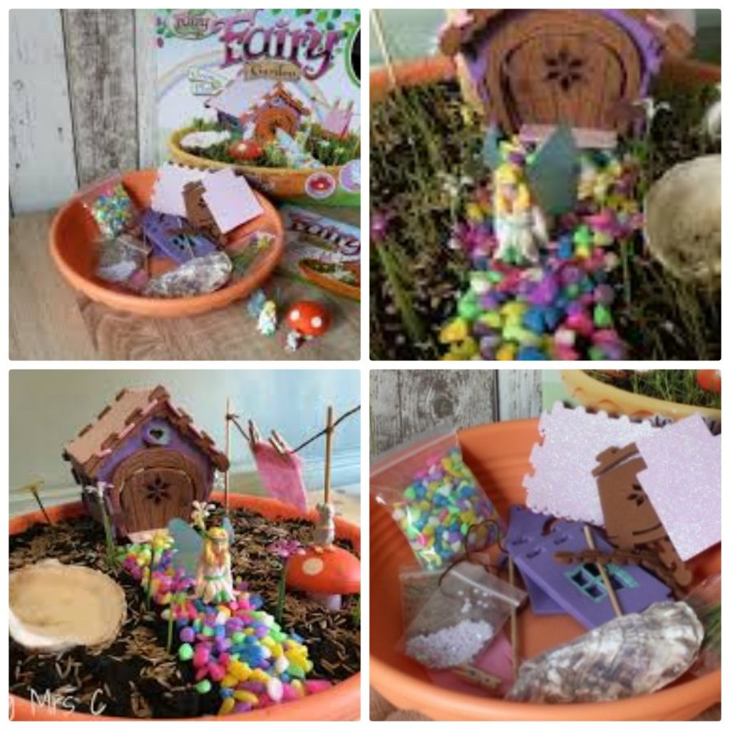Fairy gardens are a great gift to encourage the kids outdoors. A wonderful gardening kit for kids