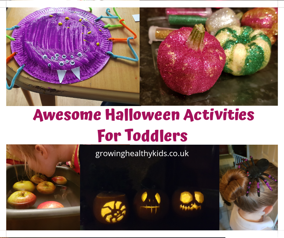 Halloween Activities For Toddlers. Perfect learning activities and craft ideas from baby to toddler. Full of sensory play and great practise for motor skills and lots of fun. There's even a few free printables.