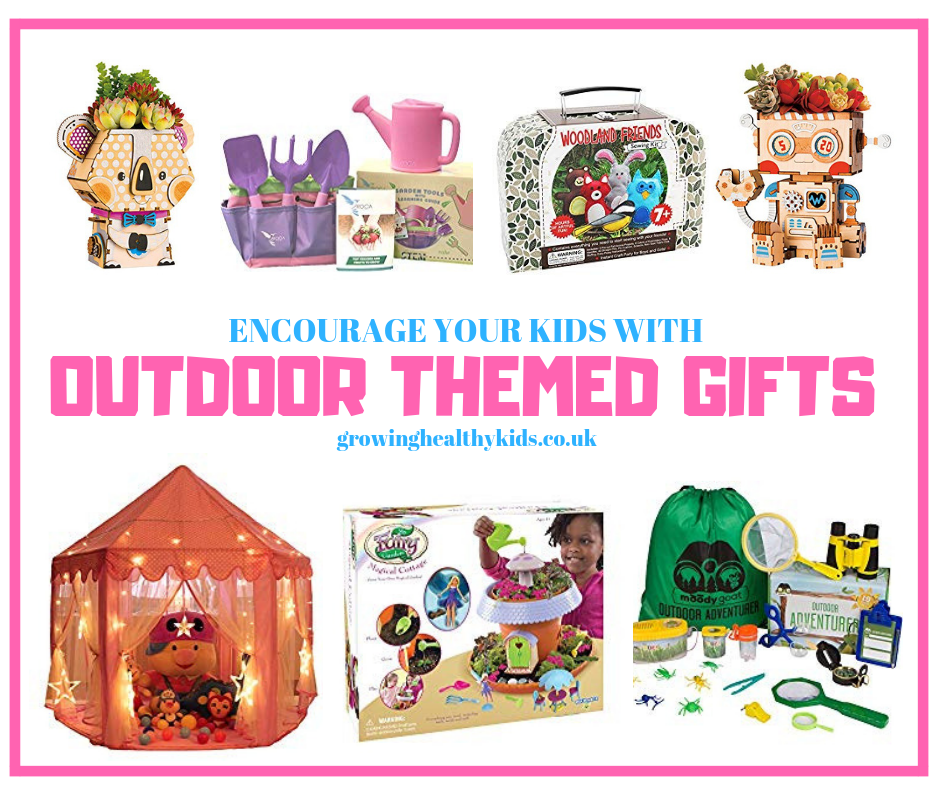 Some fantastic gifts for kids to help develope a love of gardening, wildlife and the great outdoors.