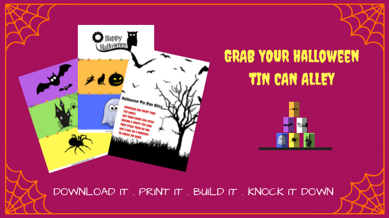 Print these labels to make your own Tin can alley.