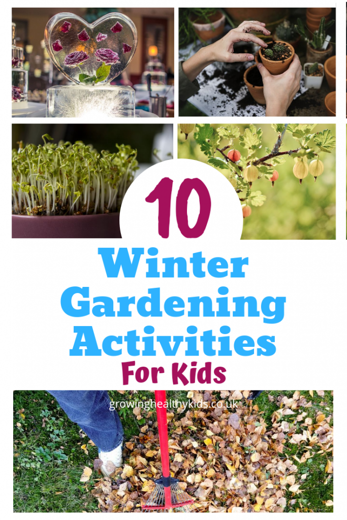 Winter grdening ideas for kids this winter. Get thwm outdoors enjouing excersizing their motor skills and having fun sowing, growing and so much more.