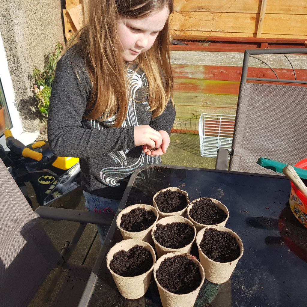 Reduce plastic in your backyard by teaching kids to use paper pots