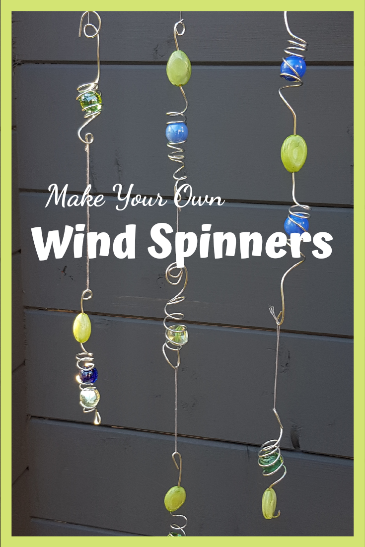 How to make fun diy wind spinners for your kids garden.
