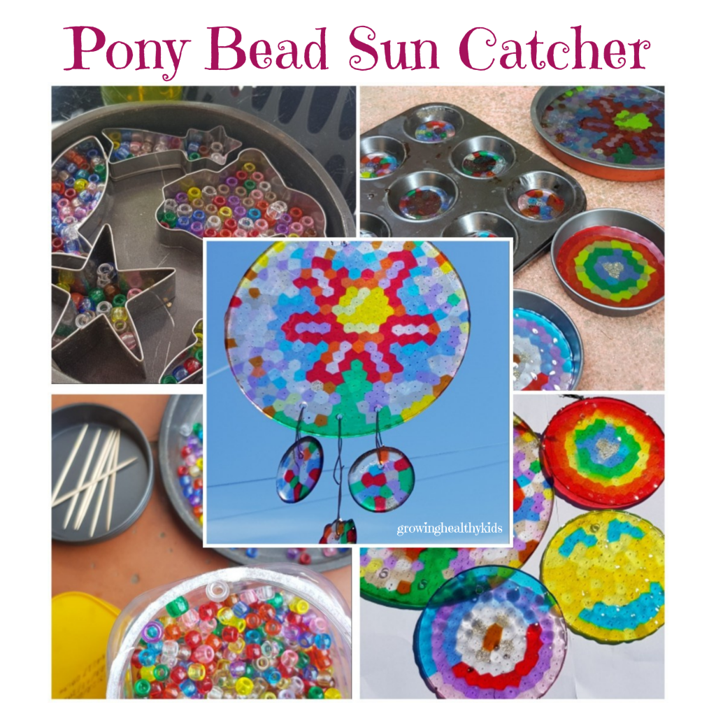 Pony bead garden craft is a perfect activity to get kids outdoors. Perfect for any back yard and so easy even parents can do it fun, simple and suitable for any season from Spring, Summer Winter Or Fall. Garden crafts get the kids outdoors and having so much fun