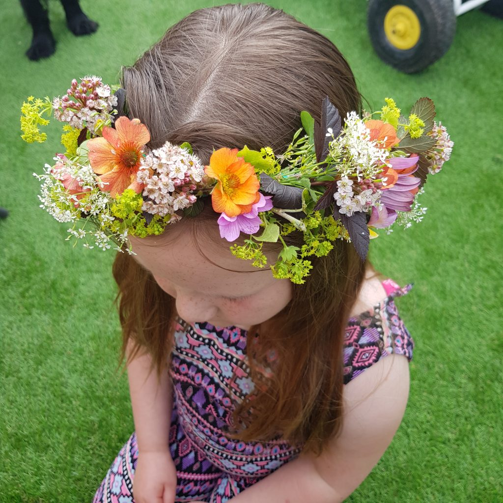 Make a flower crown during summer