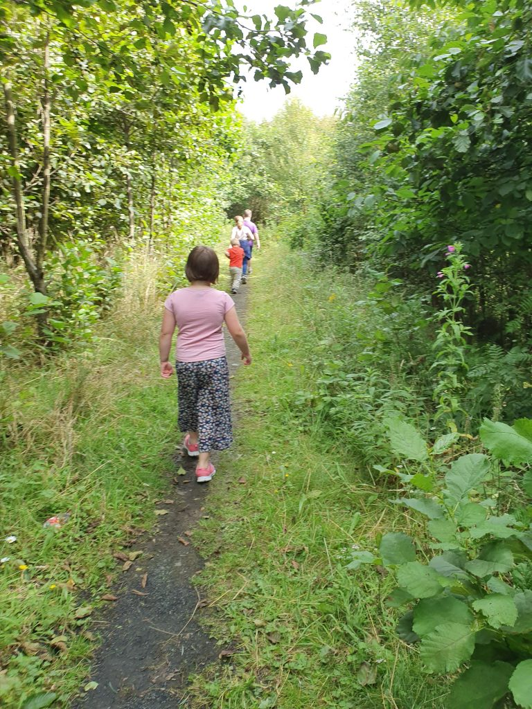 Apps for kids, geocaching out in the woods