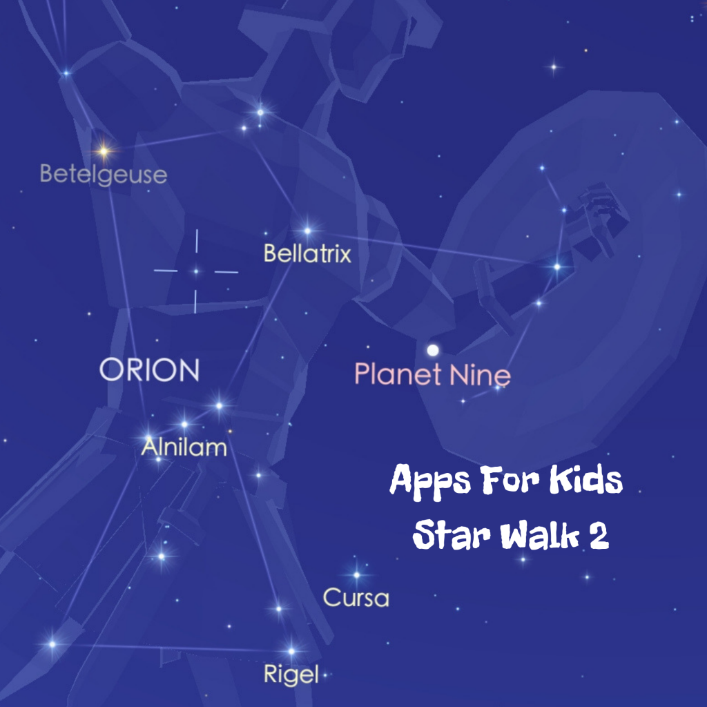Star app for kids to help recognise the stars and constellations.