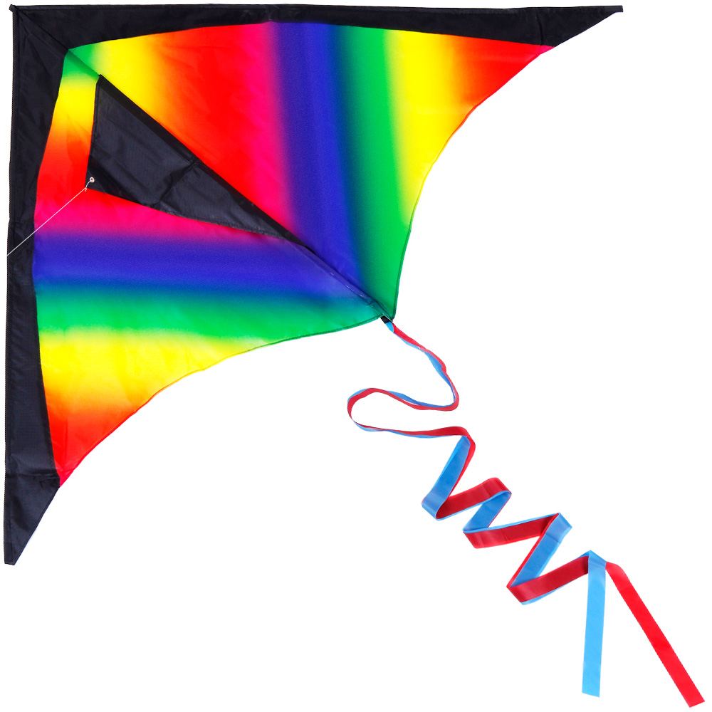 Large rainbow kite for kids.