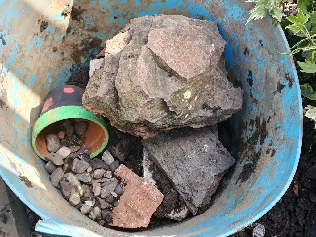 making a backyard water feature