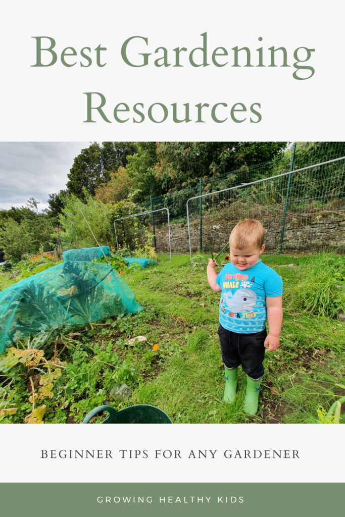 Garden resources for beginners, young child gardening